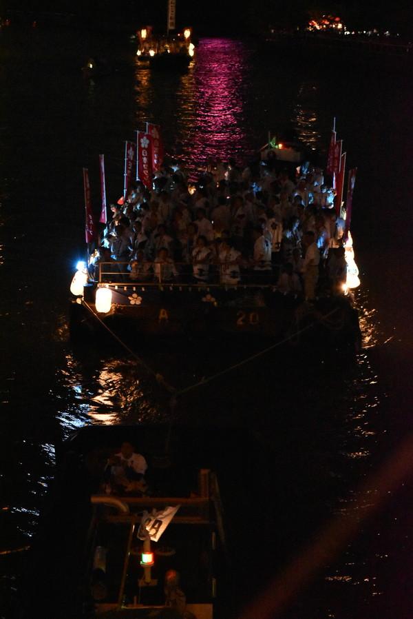 大阪の夏 天神祭り 雨漏り